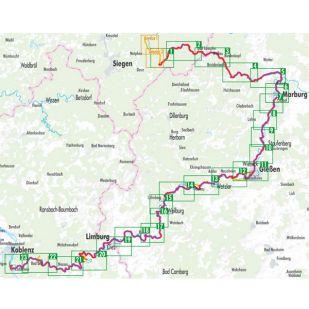 Lahn-Radweg Bikeline Fietsgids