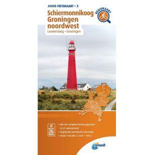 ANWB Regiokaart 3 Schiermonnikoog - Groningen noordwest