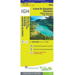 IGN 143 Lons-Le-Saunier/Geneve