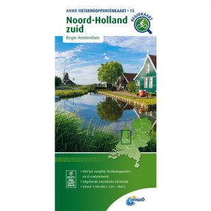 ANWB Fietsknooppuntenkaart 15 Noord Holland zuid
