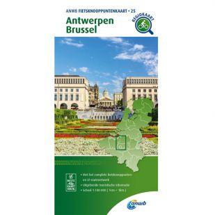 ANWB Fietsknooppuntenkaart 25 Antwerpen - Brussel