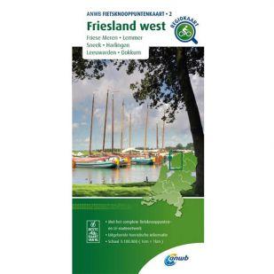 ANWB Fietsknooppuntenkaart 02 Friesland west