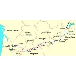 Midden-Frankrijk fietsroute - Bordeaux - Geneve !