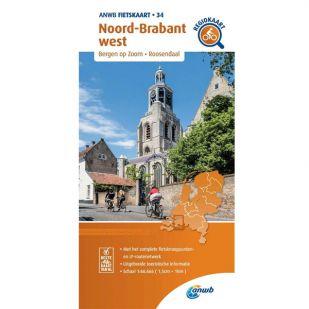 ANWB Regiokaart 34 Noord-Brabant west