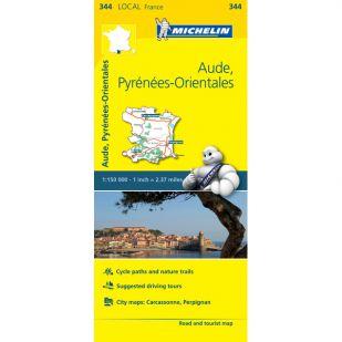 Michelin 344 Aude Pyrénées Orientales