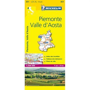 Michelin 351 Piemonte Valle D'Aosta