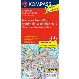 KP3704 Radkarte Niedersachsen West, Nordrhein-Westfalen Nord