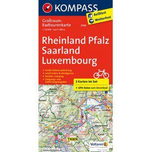 KP3709 Radkarte Rheinland-Pfalz - Saarland - Luxembourg