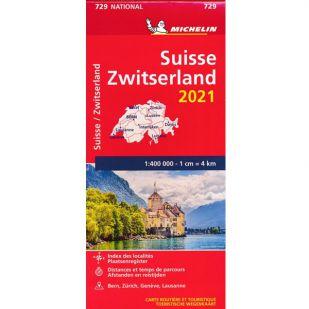 Michelin Wegenkaart 729 - Zwitserland 2021