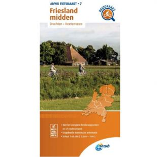 ANWB Regiokaart 7 Friesland midden