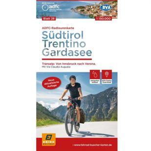ADFC Radtourenkarte 28. Sudtirol - Trentino - Gardasee