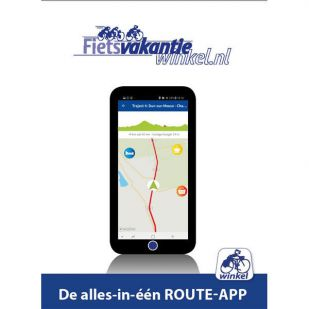 In de App: Hanzefietsroute 1 naar Lübeck