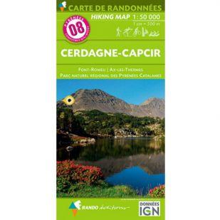 Pyrénées Carte no.8: Cerdagne-Capcir