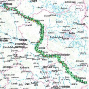 Elbe Radweg stromaufwarts Bikeline Fietsgids