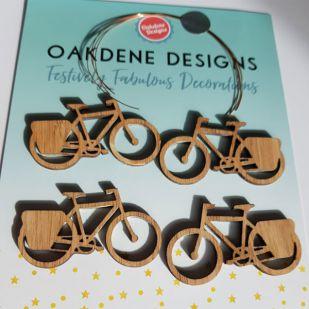 Bamboe fietsjes (4 stuks)