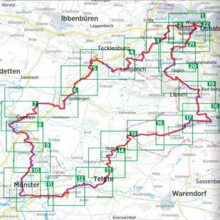 Friedensroute Bikeline Kompakt fietsgids