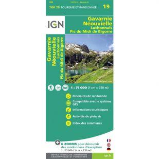IGN Gavarnie Néouvielle Luchonnais Pic du Midi de Bigorre (19) - Wandel- en fietskaart