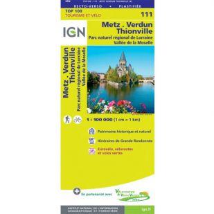 IGN 111 Metz/Verdun/Luxembourg