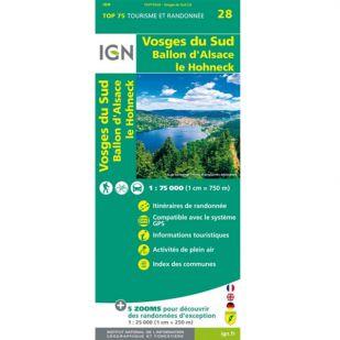 IGN Vogezen (28) - Vosges du Sud - Wandel- en Fietskaart !