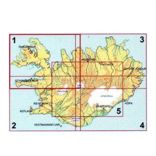 IJsland zuid-oost Ferdakort