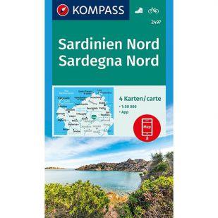 KP2497 Noord Sardinie - 4 kaartenset