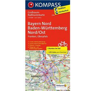 KP3710 Radkarte Bayern Nord, Baden-Württemberg Nord/Ost