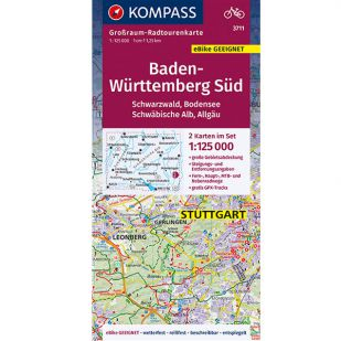 KP3711 Radkarte Baden-Württemberg Süd (2021)
