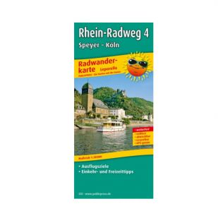 Rheinradweg 4: Speyer - Koln (kaart)