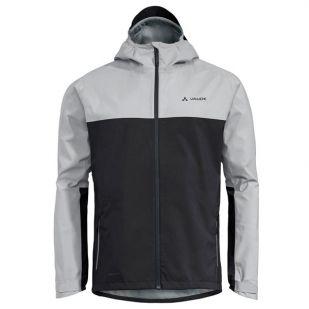 A - Vaude Men's Moab Rain Jacket-Grijs-XL