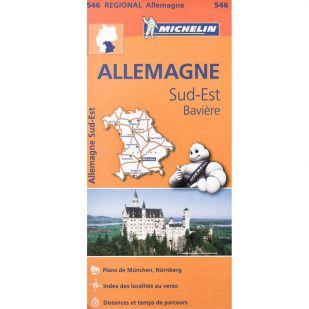 Michelin 546 Duitsland Zuid Oost