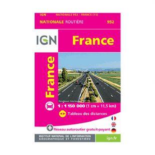 IGN mini kaartje Frankrijk