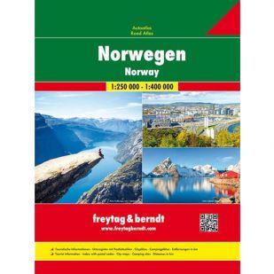 F&B Noorwegen Road Atlas 1:250.000 / 1: 400.000