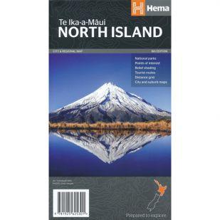 Nieuw-Zeeland - North Island Regional Map