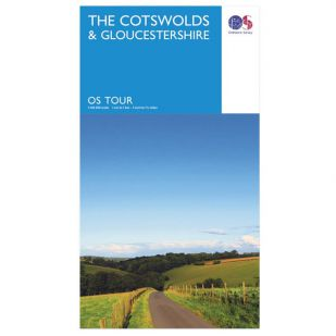 The Cotswolds & Gloucestershire OS Tour Map