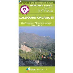 Pyrénées Carte no.11: Collioure-Cadaqués (Rousillon)