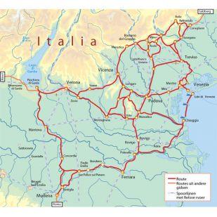 Onbegrensd fietsen door de Veneto