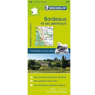 Michelin 126 Bordeaux en omgeving