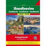 F&B Skandinavië Superatlas 1:250.000/ 1: 400.000